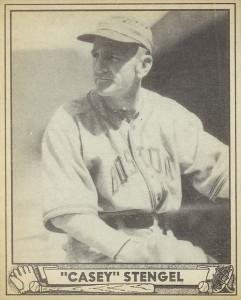 1940 Play Ball Casey Stengel #141