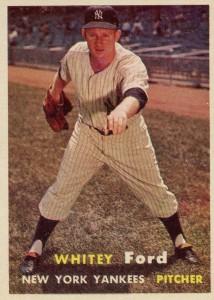 1957 Topps Whitey Ford #25