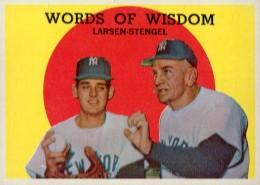 1959 Topps Casey Stengel #383