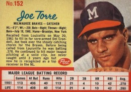 Top 10 Joe Torre Baseball Cards 5