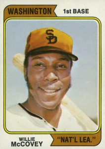 1974 Topps Willie McCovey Error #250