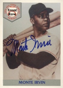 1992 Front Row All-Time Great Series Monte Irvin Autograph #17