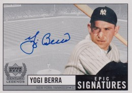 1999 Upper Deck Century Legends Yogi Berra Autograph