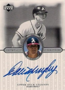 2000 Upper Deck Legendary Signatures Dale Murphy #S-DM