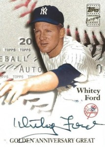 2001 Topps Golden Anniversary Autographs Whitey Ford #GAA-WF