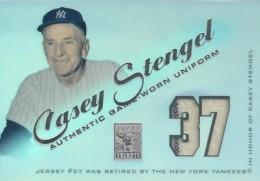 2001 Topps Tribute Game Worn Relics Casey Stengel