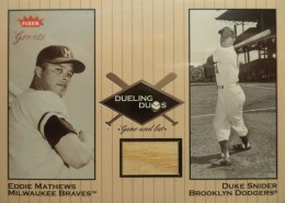 2002 Fleer Greats of the Game Dueling Duos Duke Snider Bat Relic