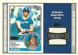 2002 Topps Archives Dale Murphy Jersey Relic
