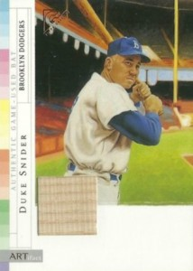 2003 Topps Gallery Hall Of Fame Artifact Duke Snider #AR-DS