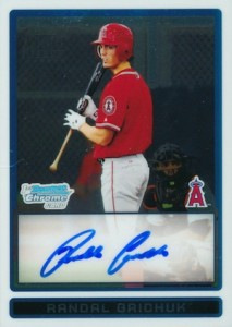 2009 Bowman Chrome Draft Picks Chrome Prospects Randal Grichuk Autograph