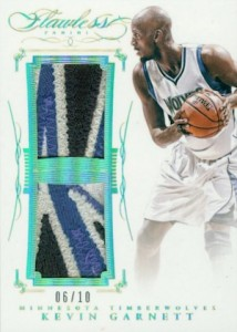 2014-15 Panini Flawless Basketball Dual Patches Garnett
