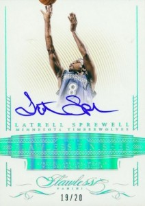 2014-15 Panini Flawless Basketball Flawless Finishes Sprewell