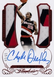 2014-15 Panini Flawless Basketball Greats Clyde Drexler