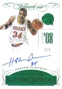 2014-15 Panini Flawless Basketball Hall of Fame Hakeem Olajuwon