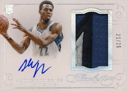 2014-15 Panini Flawless Basketball Patch Autographs Wiggins
