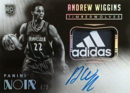 2014-15 Panini Noir Andrew Wiggins RC Black White Autographed Patch