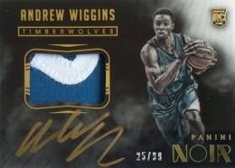 2014-15 Panini Noir Andrew Wiggins RC Color Autographed Patch