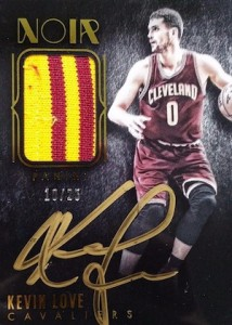 2014-15 Panini Noir Basketball Autograph Prime Color Kevin Love