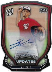 2015 Bowman Chrome Baseball Scouts Updates Die-Cut Autographs