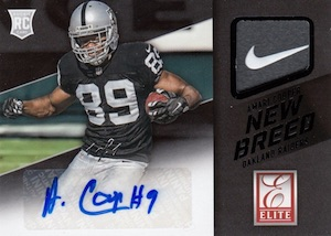 2015 Donruss Football New Breed Jesey Autograph Amari Cooper