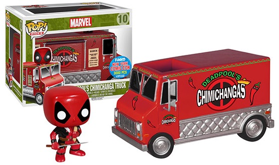 2015 Funko NYCC Pop! Rides Deadpool's Red Chimichanga Truck