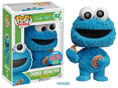 2015 Funko NYCC Pop! TV Sesame Street - Flocked Cookie Monster