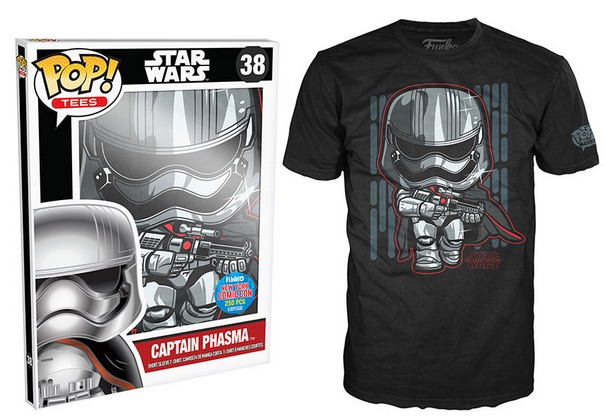 2015 Funko NYCC Pop! Tees Star Wars Episode VII - Captain Phasma