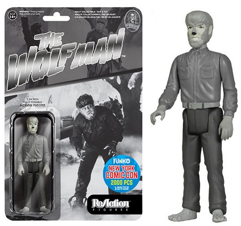 2015 Funko NYCC ReAction Universal Monsters Black & White The Wolf Man