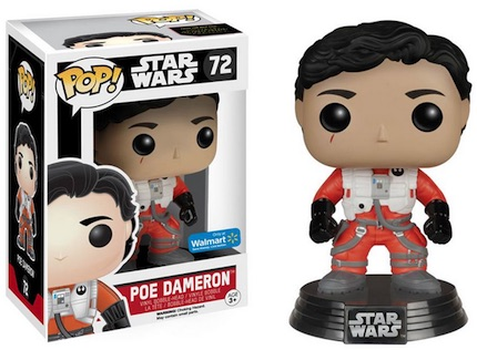 2015 Funko Pop Star Wars The Force Awakens Vinyl Figures Poe Dameron Walmart exclusive