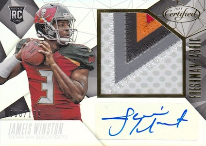 2015 Panini Certified Jameis Winston RC #233 Autographed Jersey