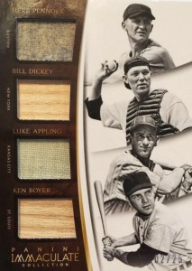 2015 Panini Immaculate Collection Bill Dickey Relics