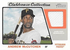 2015 Topps Heritage High Number Baseball Clubhouse Collection Relics McCutchen