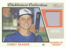 2015 Topps Heritage Minor League Baseball Clubhouse Collection Relics Seager