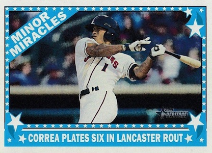2015 Topps Heritage Minor League Baseball Miracles Correa
