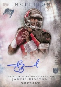 2015 Topps Inception Jameis Winston Rookie Autograph Variation