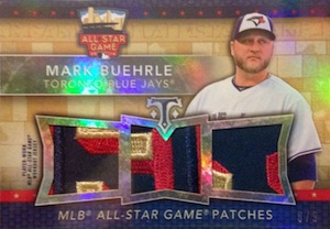 2015 Topps Triple Threads Baseball All-Star Patches
