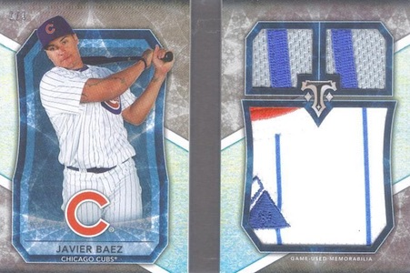 2015 Topps Triple Threads Baseball Jumbo Plus