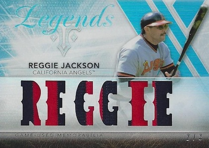 2015 Topps Triple Threads Baseball Legends Relic Sapphire Reggie Jackson