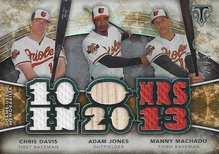 2015 Topps Triple Threads Baseball Relics Combos Orioles