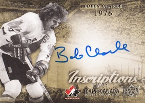 2015 Upper Deck Team Canada Master Collection Hockey Inscriptions