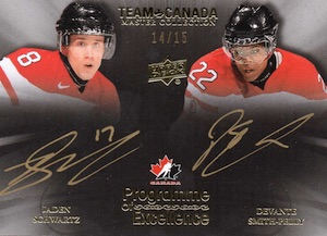 2015 Upper Deck Team Canada Master Collection Hockey Programme of Excellence Dual