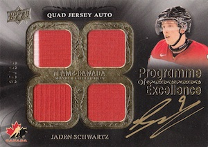 2015 Upper Deck Team Canada Master Collection Hockey Programme of Excellence Quad Jersey Autos