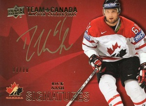 2015 Upper Deck Team Canada Master Collection Hockey Signatures