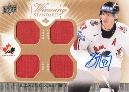 2015 Upper Deck Team Canada Master Collection Hockey Winning Standard Jersey Sidney Crosby