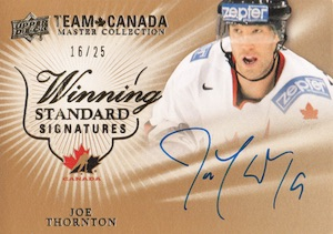 2015 Upper Deck Team Canada Master Collection Hockey Winning Standard Signatures