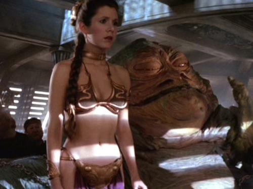 Princess Leia Jabba Hutt Slave Bikini  sc 1 st  Cardboard Connection & Princess Leia Slave Bikini Star Wars Auction Details