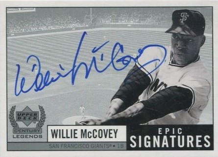 Willie McCovey 1999 UD Legends Autograph