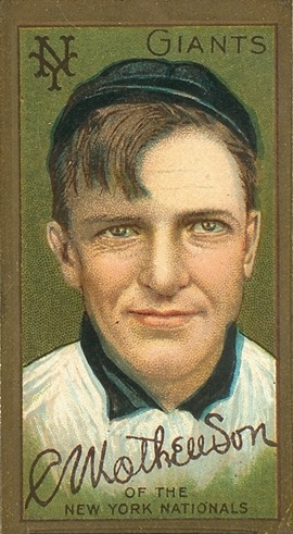 1911 T205 Gold Border Baseball Christy Mathewson
