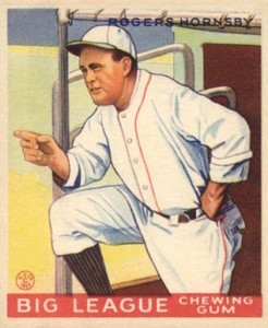 1933 Goudey Rogers Hornsby