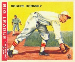1933 Goudey Rogers Hornsby #119
